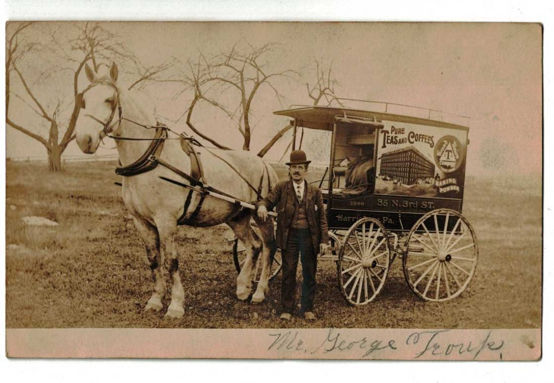Grand Union Tea and Coffee Horse Drawn Delivery Wagon
