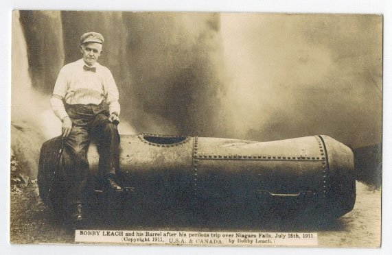 Bobby Leach, Niagra Falls Daredevil Antique Real Photo