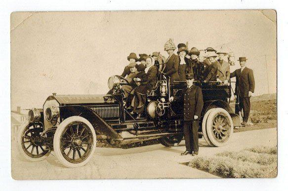Everett, Wa. Fire Truck Antique Real Photo Postcard.