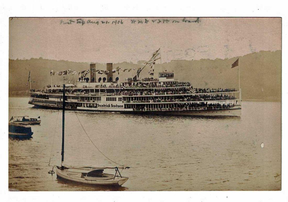 First Trip August 21, 1906 Hendrick Hudson Antique Real
