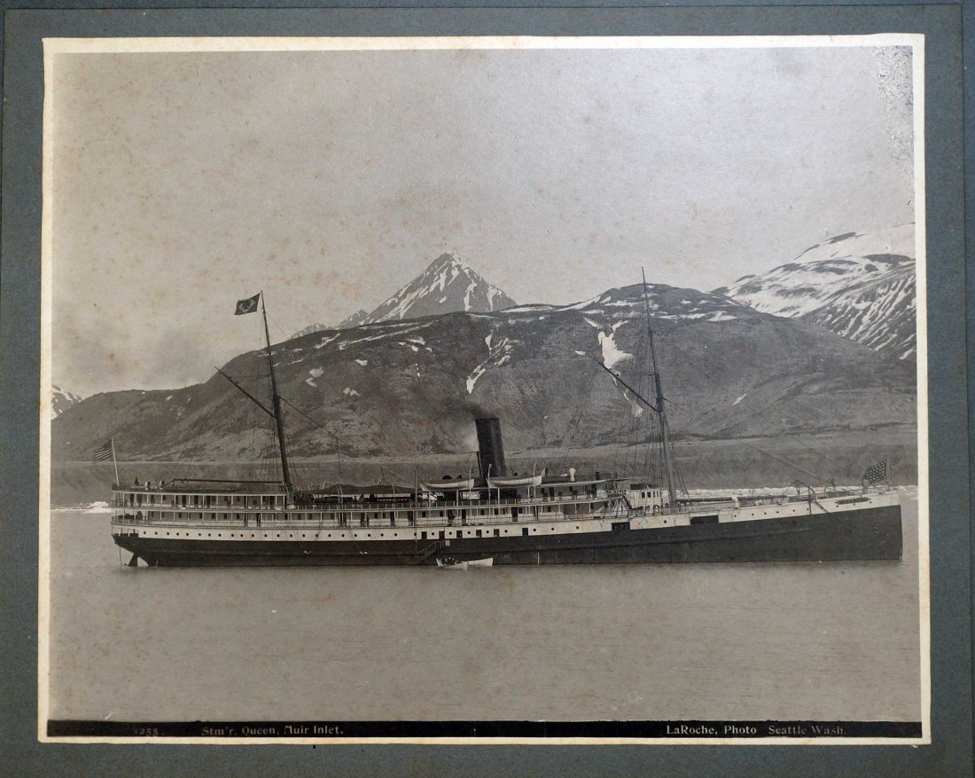 Steamer ''Queen'' Mounted Photograph by Frank LaRoche,