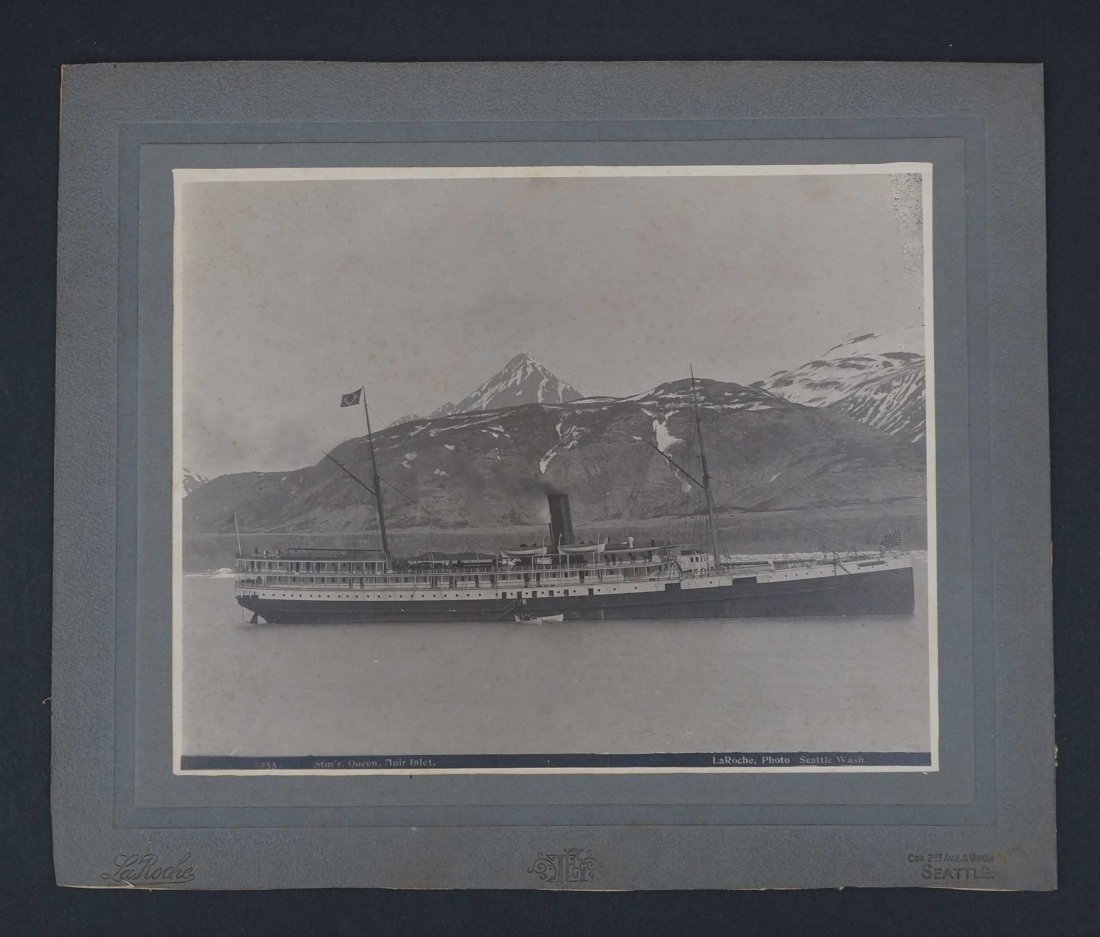 Steamer ''Queen'' Mounted Photograph by Frank LaRoche, - 2