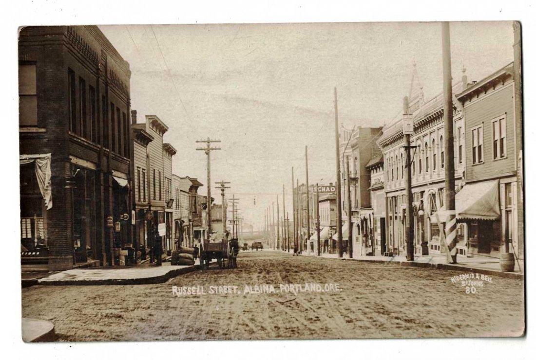 Portland, Oregon. Russell Street, Albina Street Scene