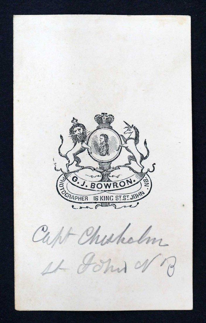 Captain Chisholm CDV Carte de Visite St. John New - 2