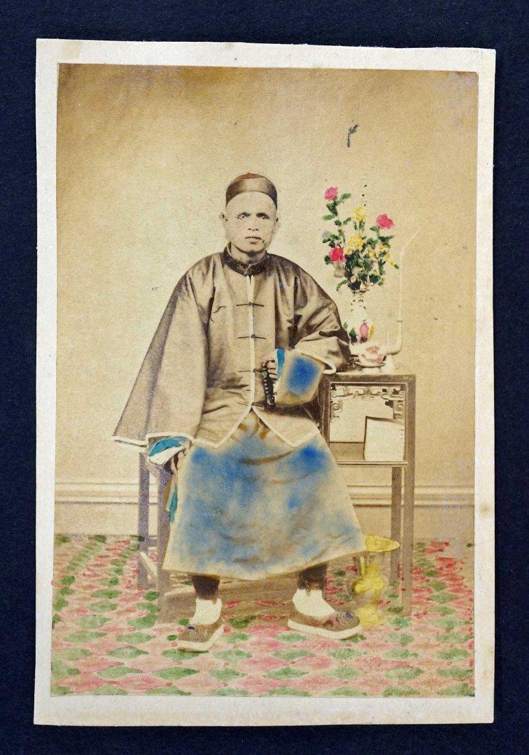19th Century CDV Carte de Visite Chinese Man, China