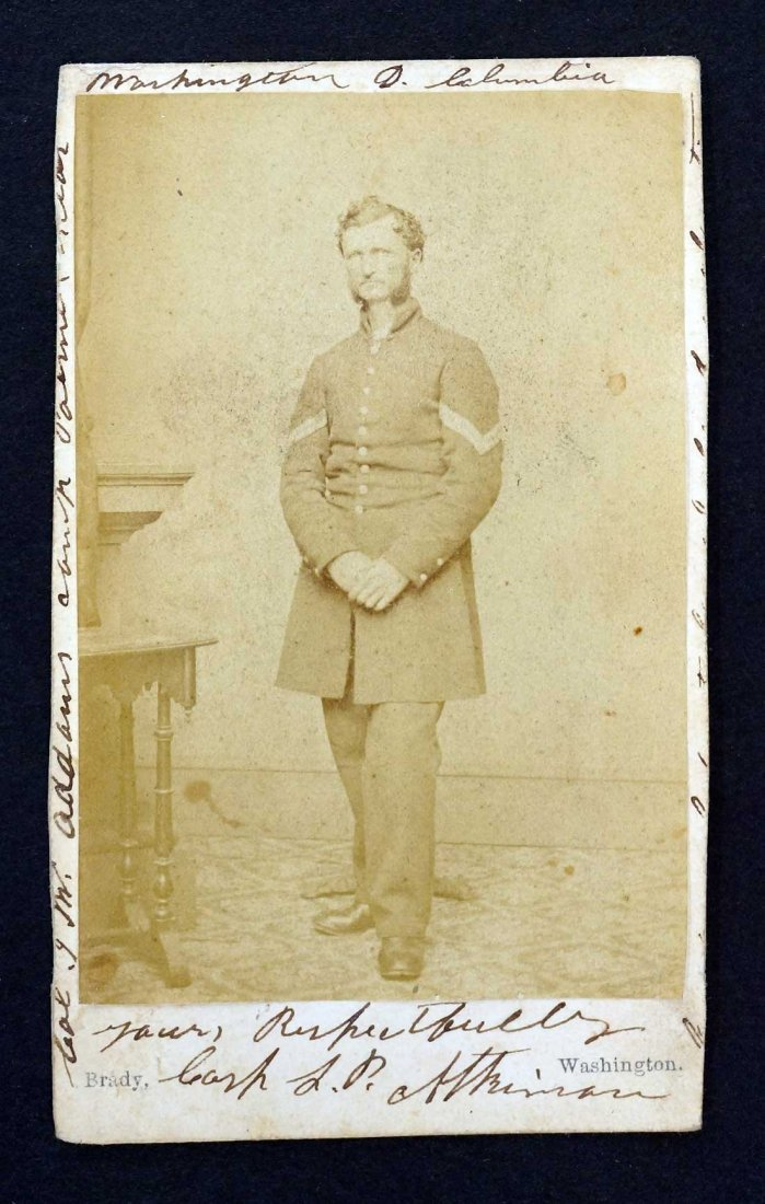 Corp. Atkinson Civil War CDV carte de visite by Matthew