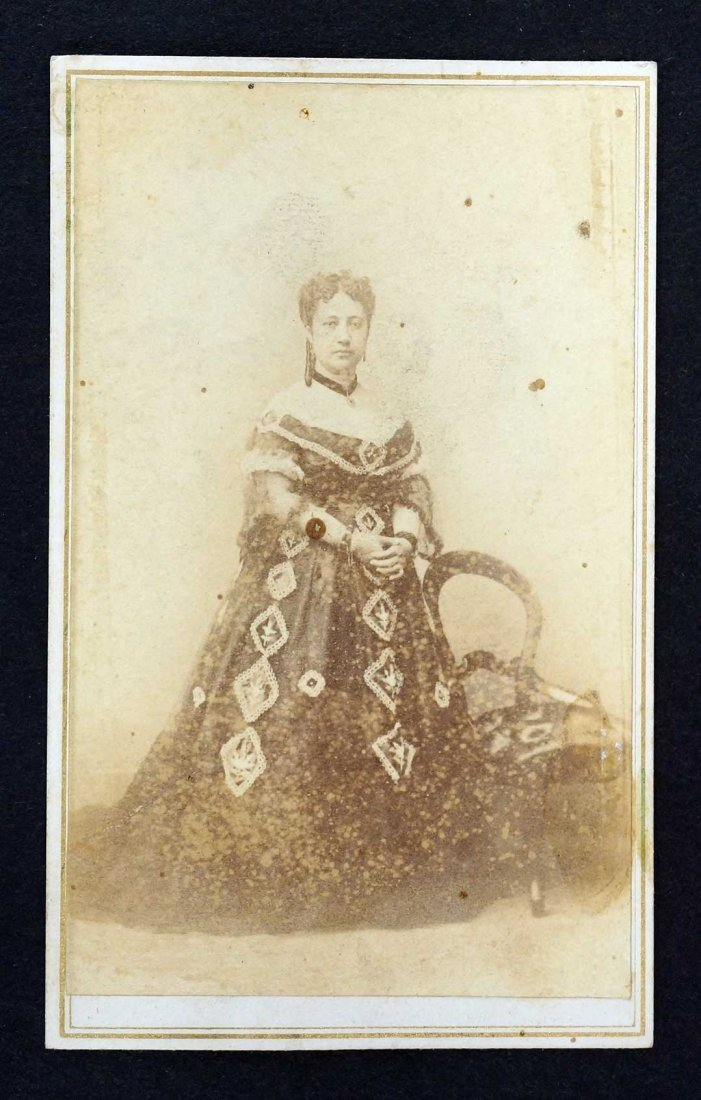 Queen Emma of Hawaii CDV carte de visite by J.W. King,