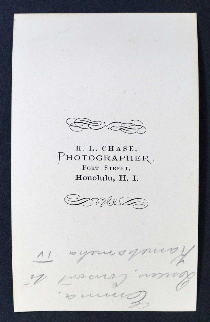 Queen Emma Consort to Kamehameha IV Hawaiian CDV Carte - 2