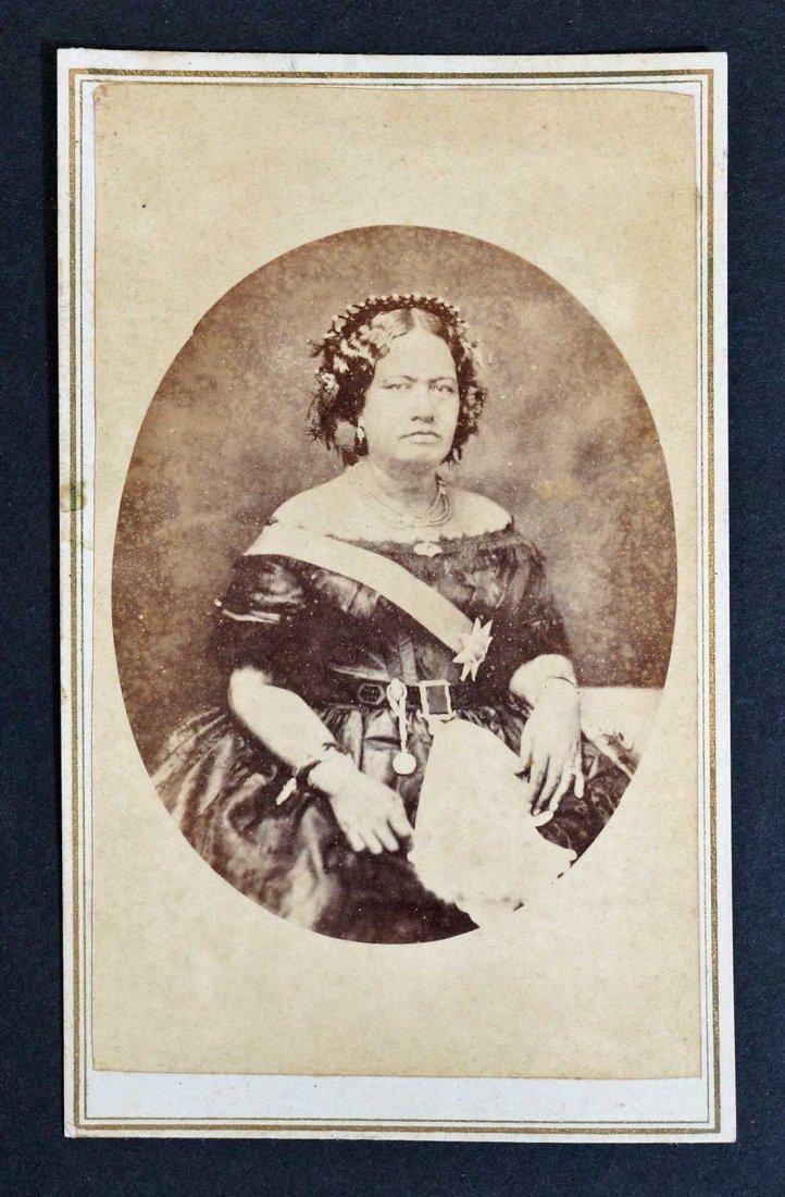 Kalama Queen Consort to Kamehameha III Hawaii CDV Carte