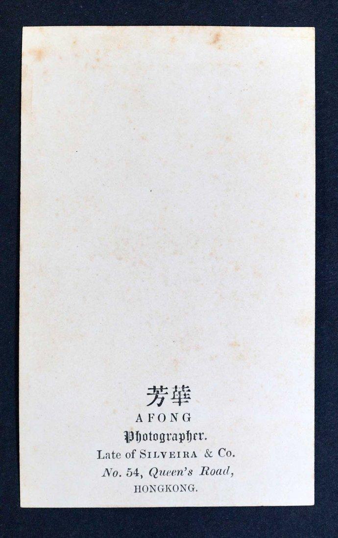 A. Fong, Hong Kong CDV Carte De Visite, 1860's, EX - 2
