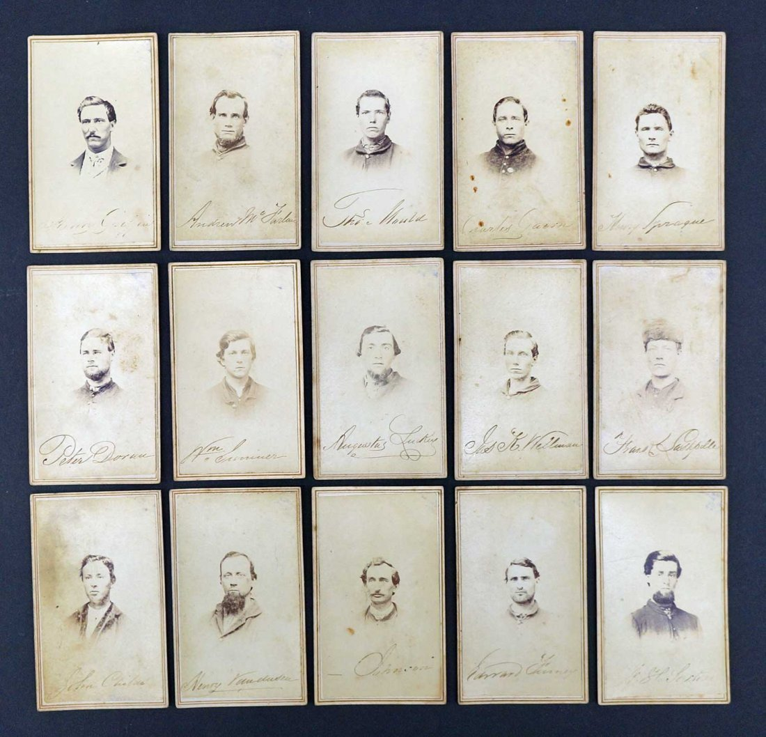 Michigan Volunteers Group of Fifteen CDV's Carte De