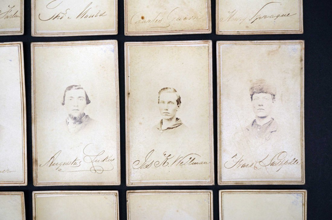 Michigan Volunteers Group of Fifteen CDV's Carte De - 3