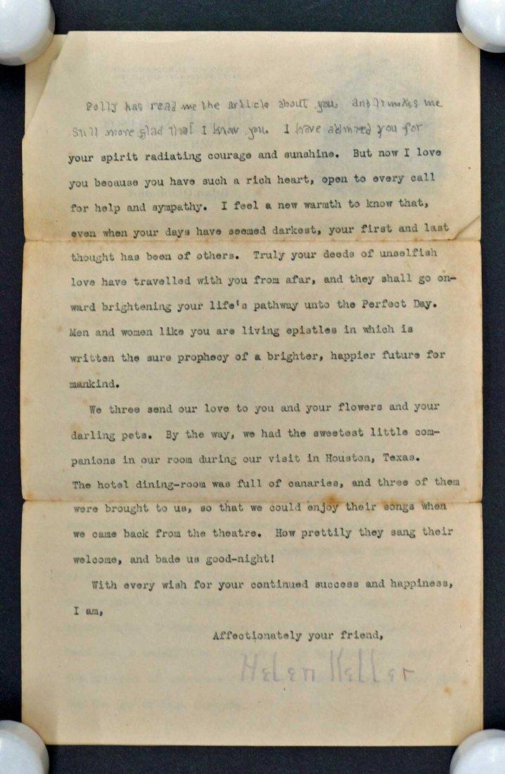 Helen Keller ALS Signed Letter - 2