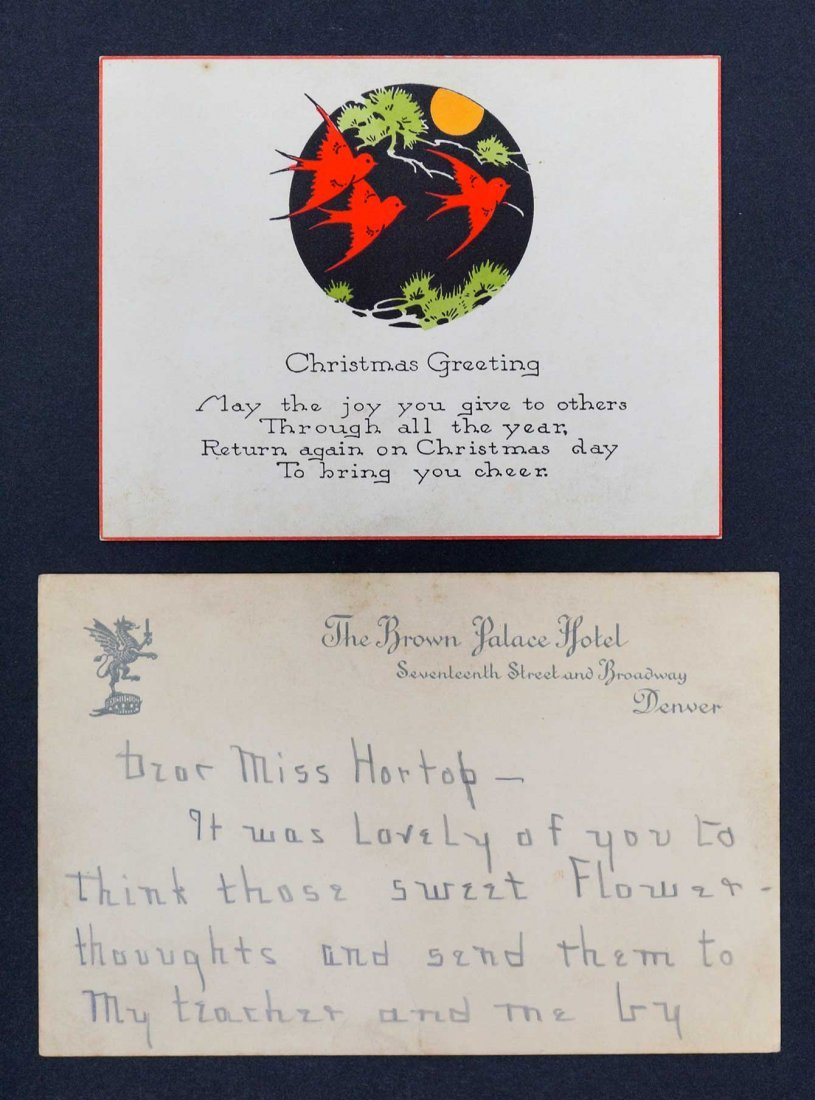Helen Keller Pair of Signed Handwritten Note Cards - 2