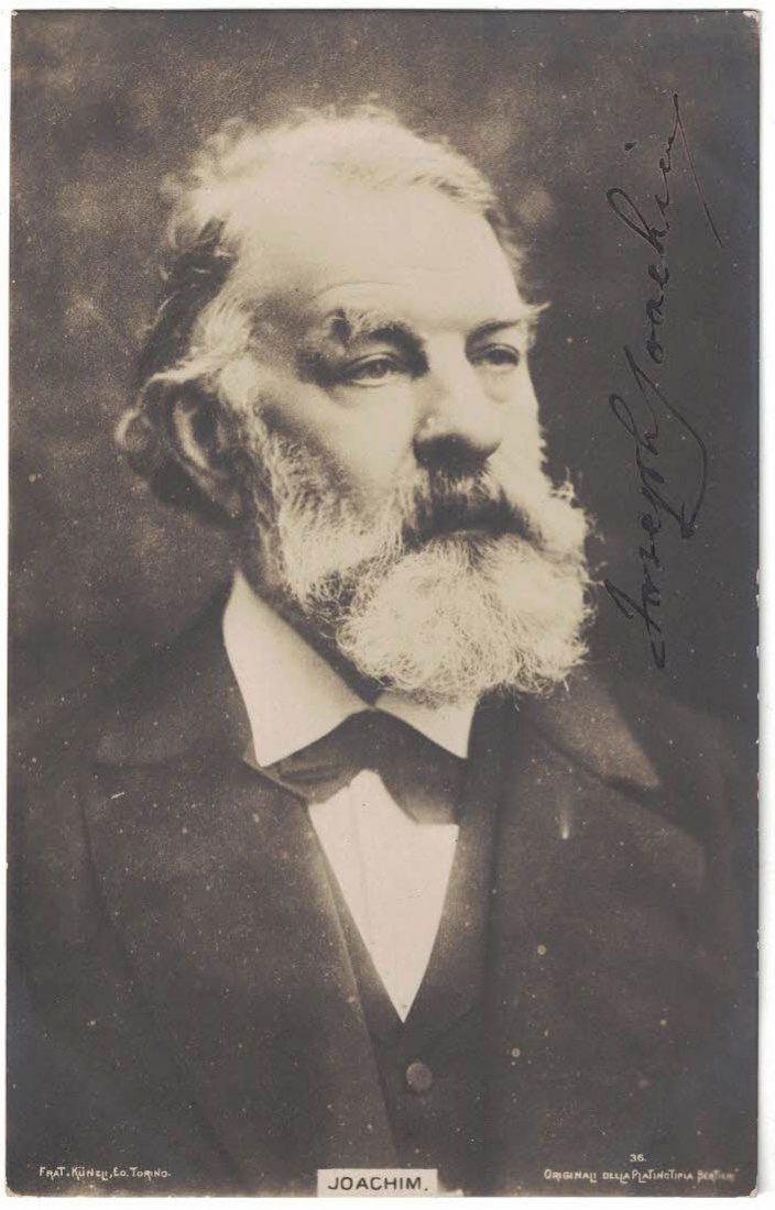 Joseph Joachim Autographed Real Photo Postcard