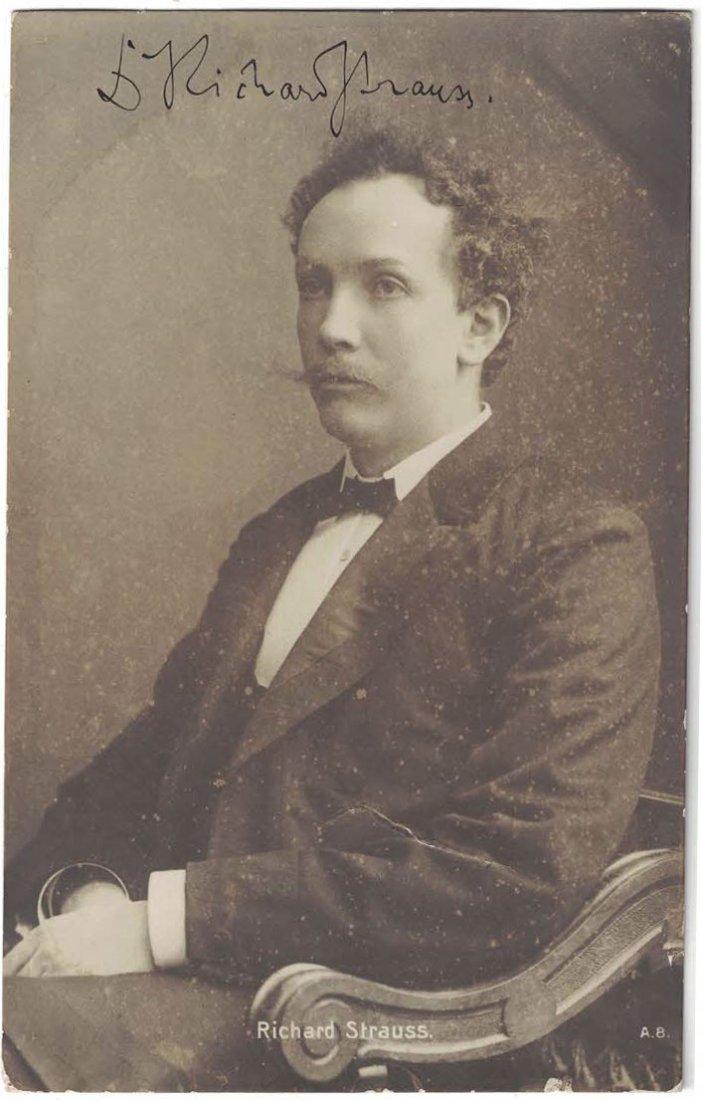 Richard Strauss Autographed Real Photo Postcard