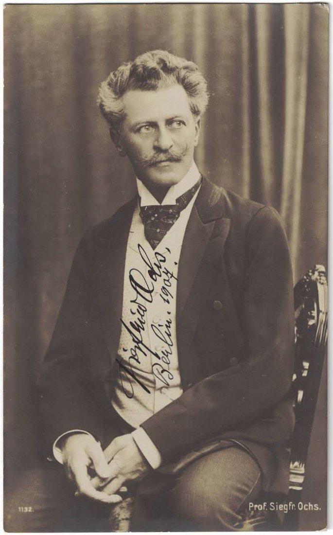 Siegfried Ochs Autographed Real Photo Postcard