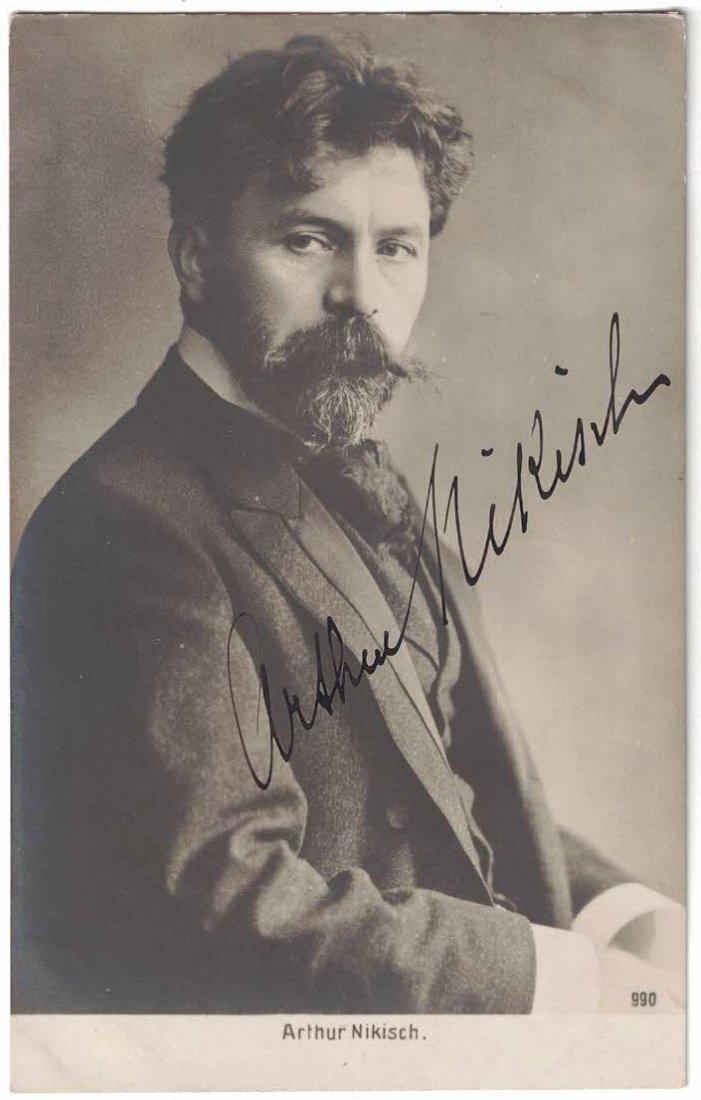 Arthur Nikisch Autographed Real Photo Postcard