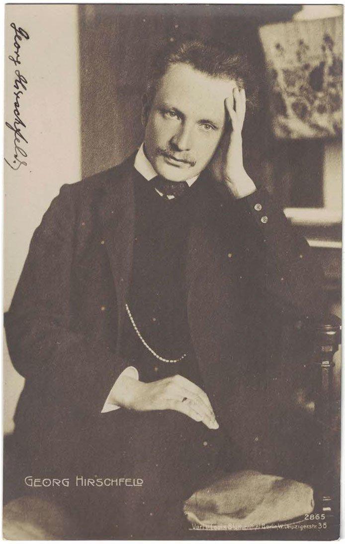 Georg Hirschfeld Autographed Real Photo Postcard