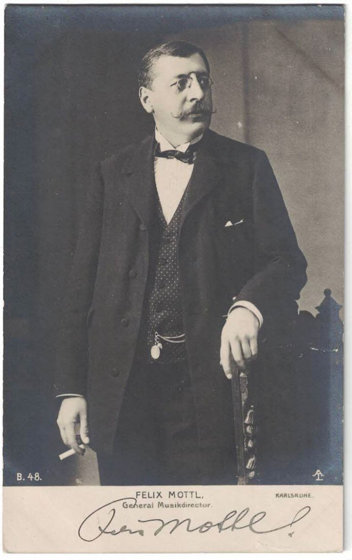 Felix Mottl Autographed Real Photo Postcard