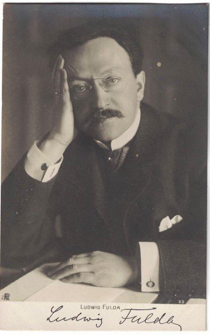 Ludwig Fulda Autographed Real Photo Postcard