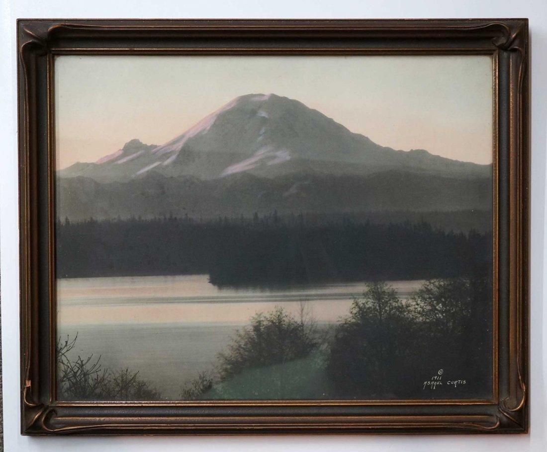 Asahel Curtis (1874-1941) Hand-tinted Large Photograph