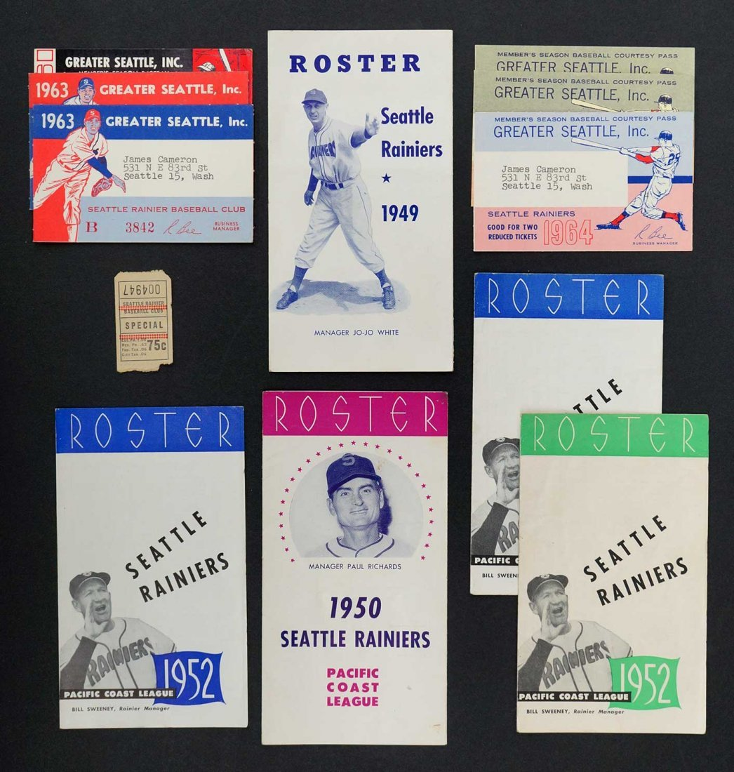 Seattle Rainiers Collection Pocket Schedules & Passes