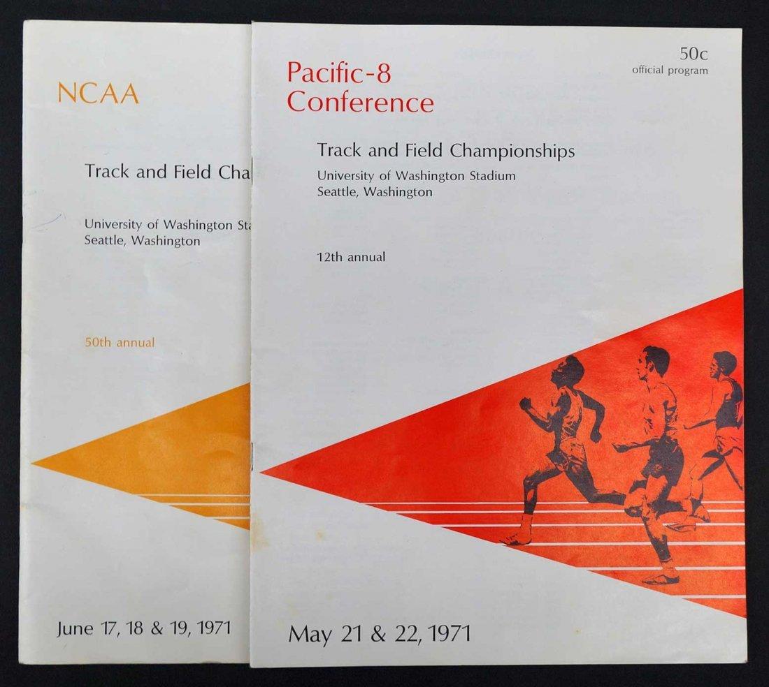 Steve Prefontaine 1971 Track Programs NCAA PAC-8