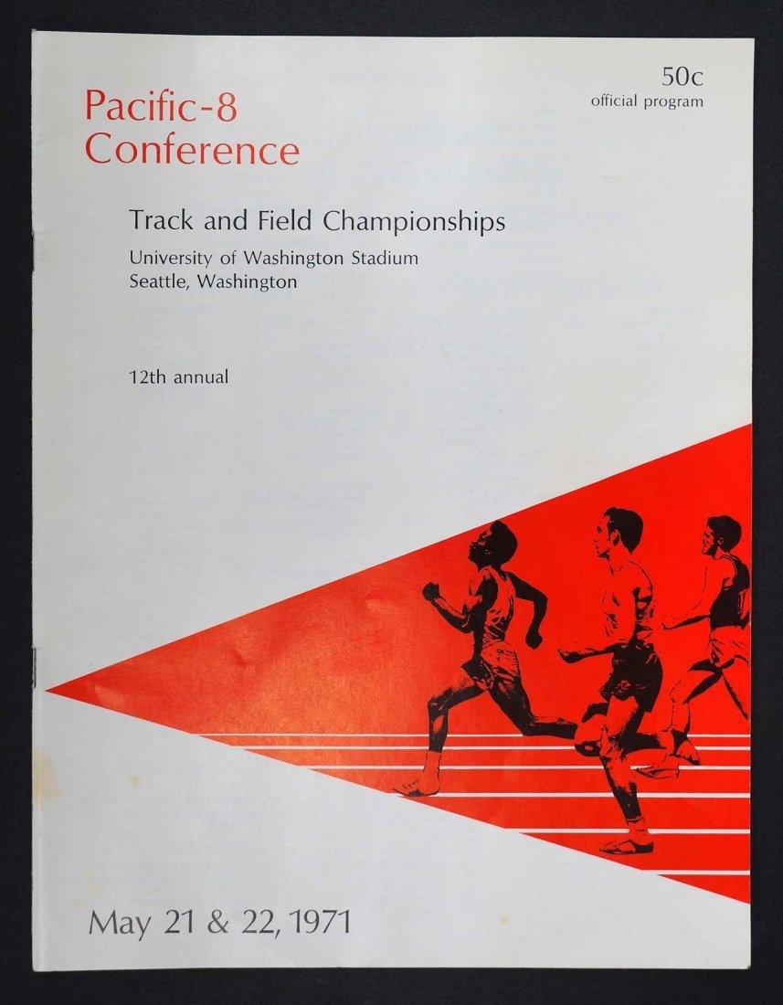 Steve Prefontaine 1971 Track Programs NCAA PAC-8 - 3
