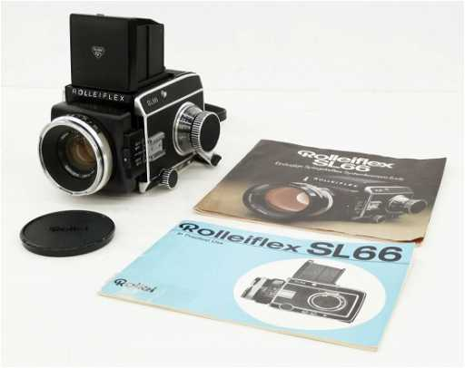 57b8a9ad4e2 Vintage Rolleiflex SL66 Camera with Manuals. Serial