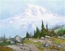 Fred Oldfield (b.1918 Washington) ''Rainier'' 1968 Oil
