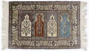 Fine Kayseri Turkish Silk Oriental Rug Mat 24x34