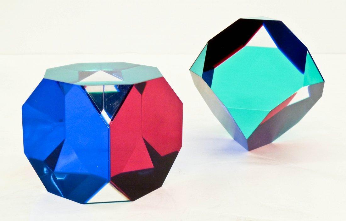 Vasa Velizar Mihich (b.1933 American) Two Polygon Cubes