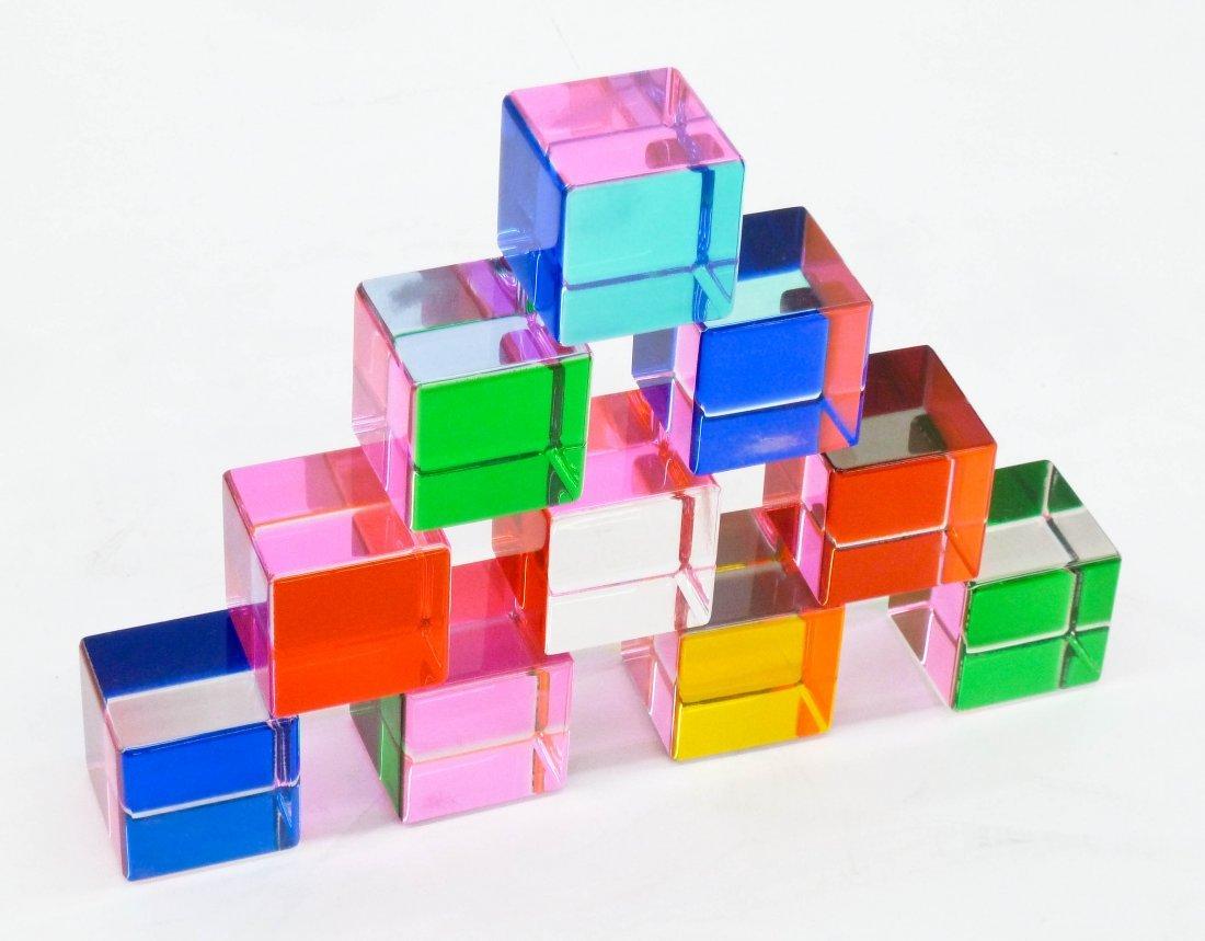 Vasa Velizar Mihich (b.1933 American) Ten Cubes 1992