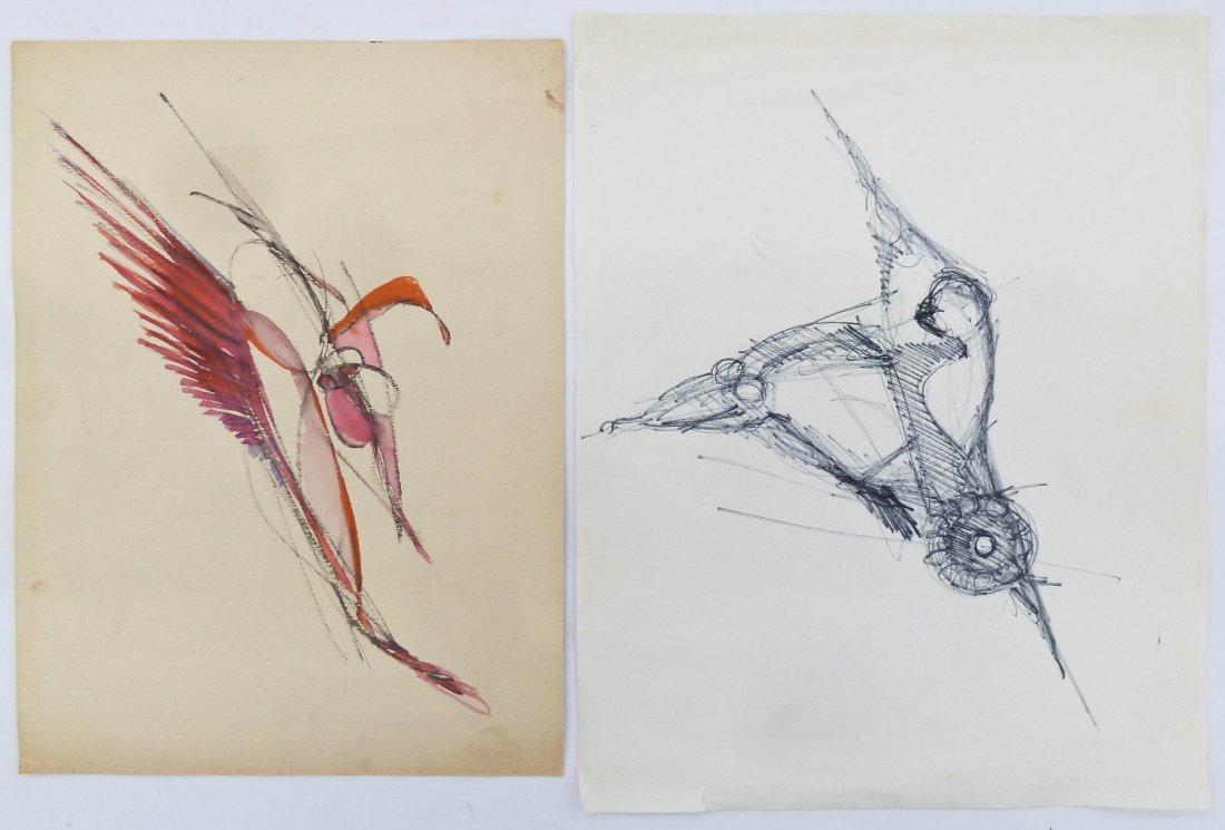 7pc Peter Lobello (1935-2007 American) Artworks. - 2