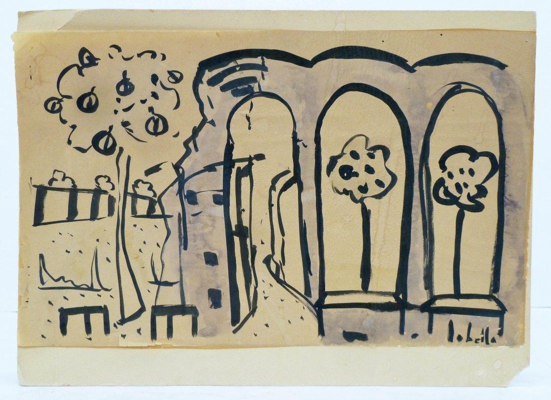 7pc Peter Lobello (1935-2007 American) Artworks. - 5