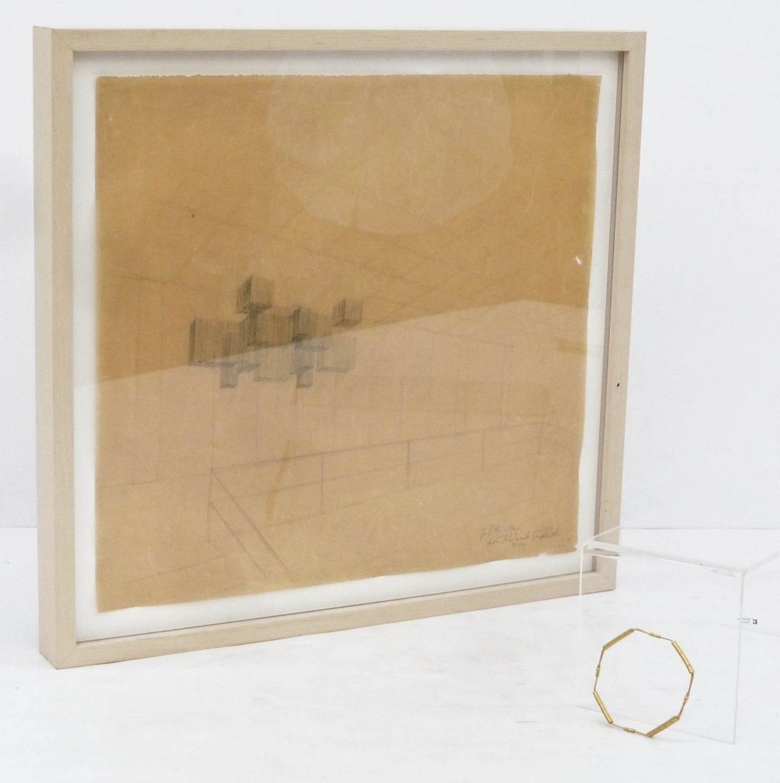 2pc Richard Lippold (1915-2002 American) Gold Wire