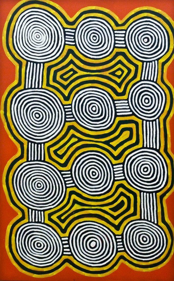 Ronnie Tjampitjinpa (b.1943 Australia) ''Tingari