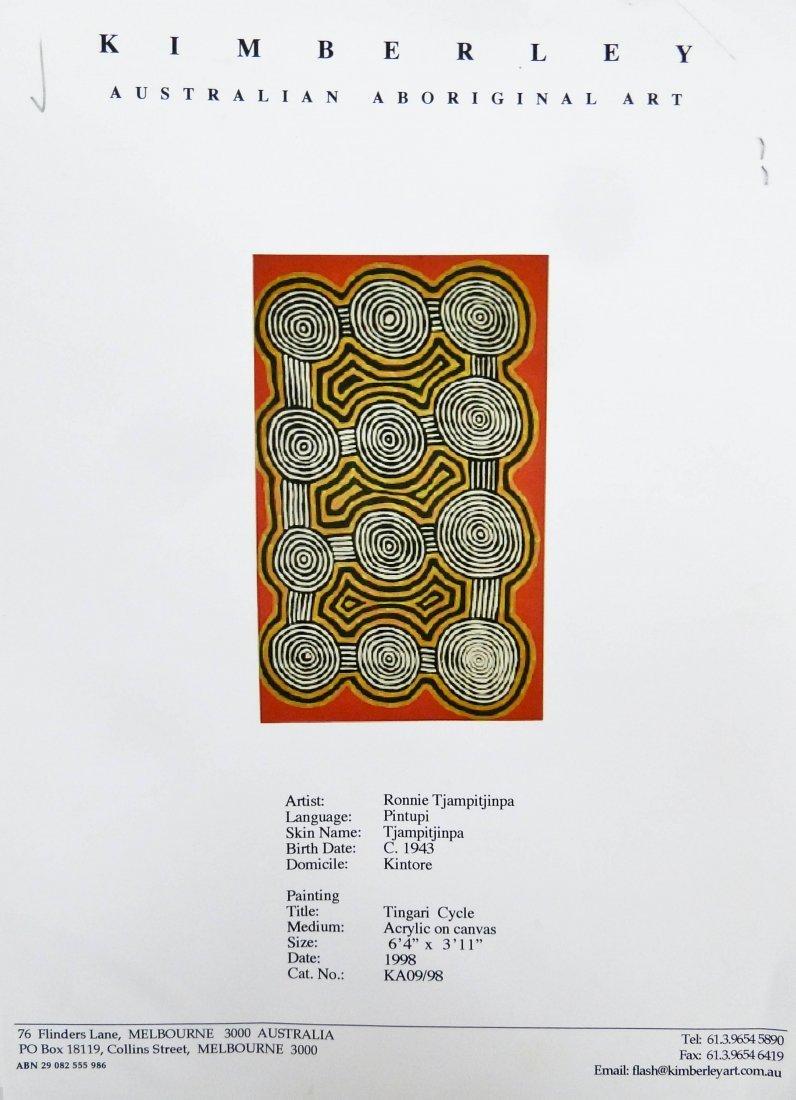 Ronnie Tjampitjinpa (b.1943 Australia) ''Tingari - 6