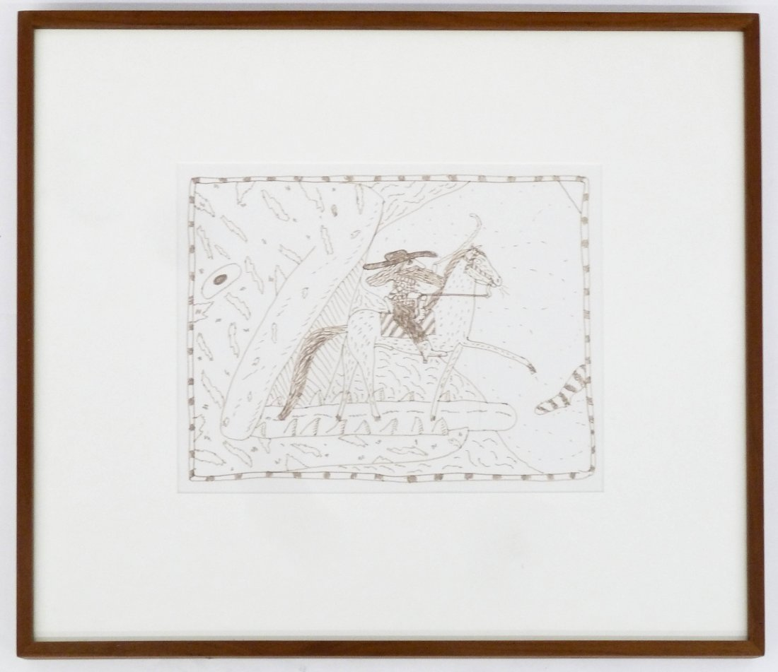 Gaylen Hansen (b.1921 Washington) ''Kernal on Horseback - 2