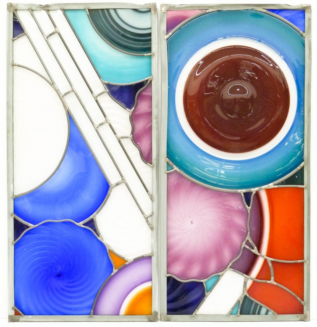 Sonja Blomdahl (b.1952 Washington) Two Incalmo Glass - 2