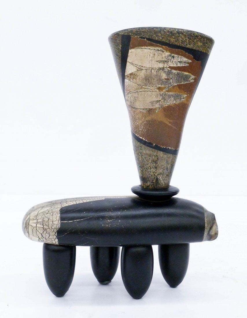 Hiroshi Yamano (b.1956 Japanese) Fish Vessel Glass