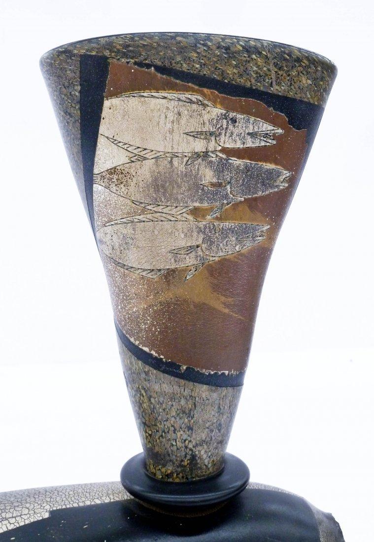 Hiroshi Yamano (b.1956 Japanese) Fish Vessel Glass - 2