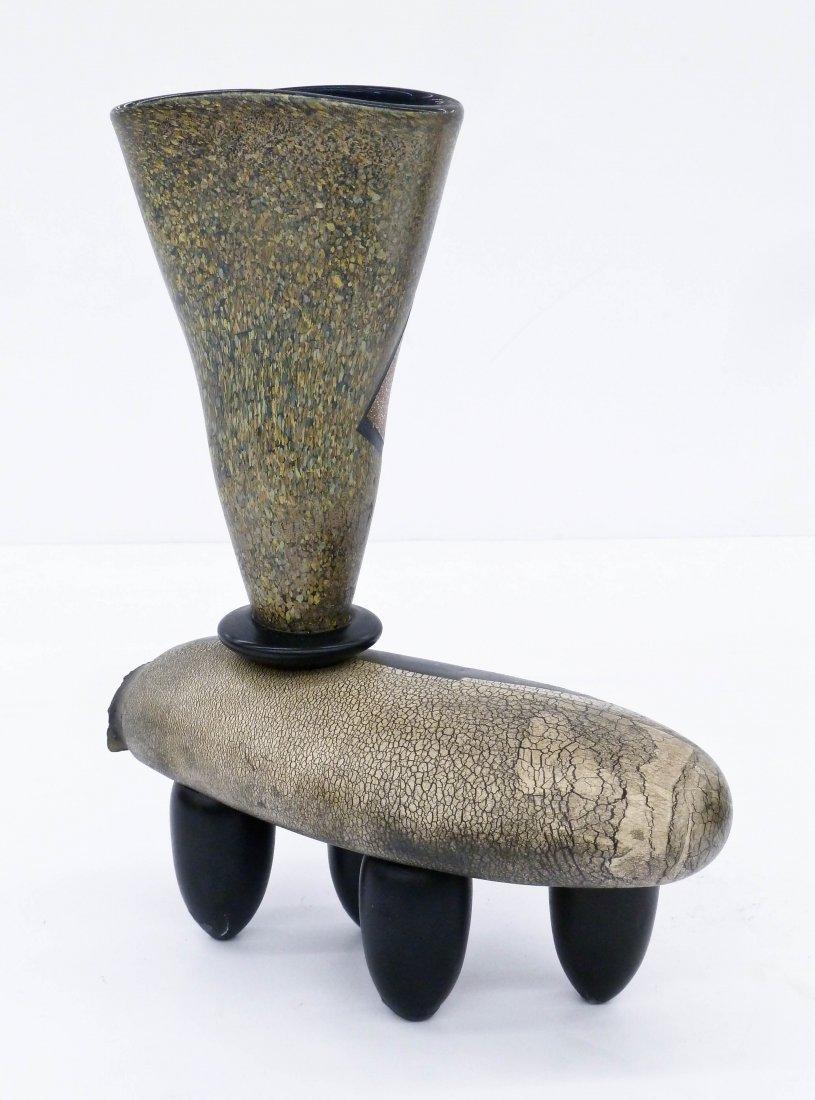Hiroshi Yamano (b.1956 Japanese) Fish Vessel Glass - 3