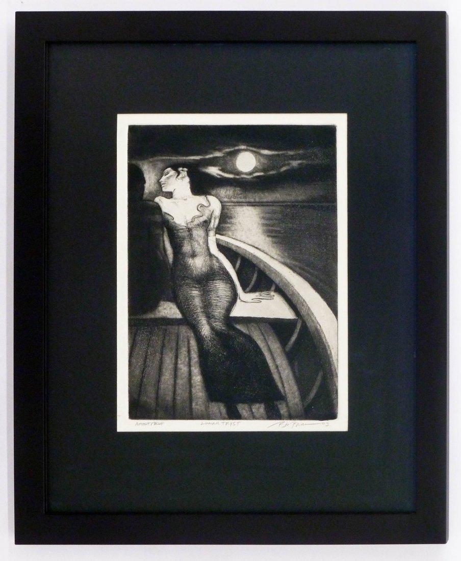 Bill Brauer (b.1939 American) ''Lunar Tryst'' 2003 - 2