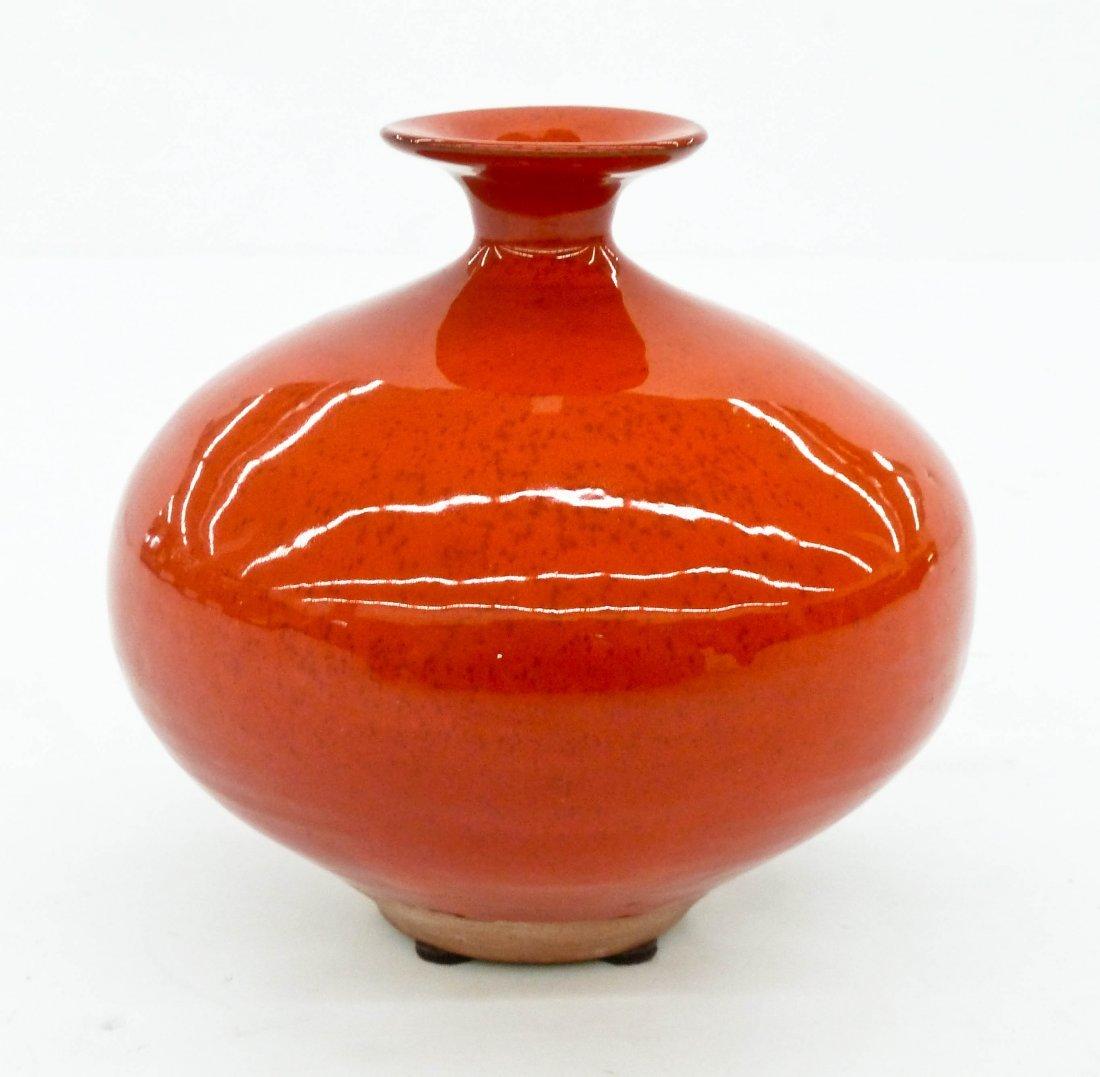 Laura Andreson (1902-1999 California) Deep Red Glazed