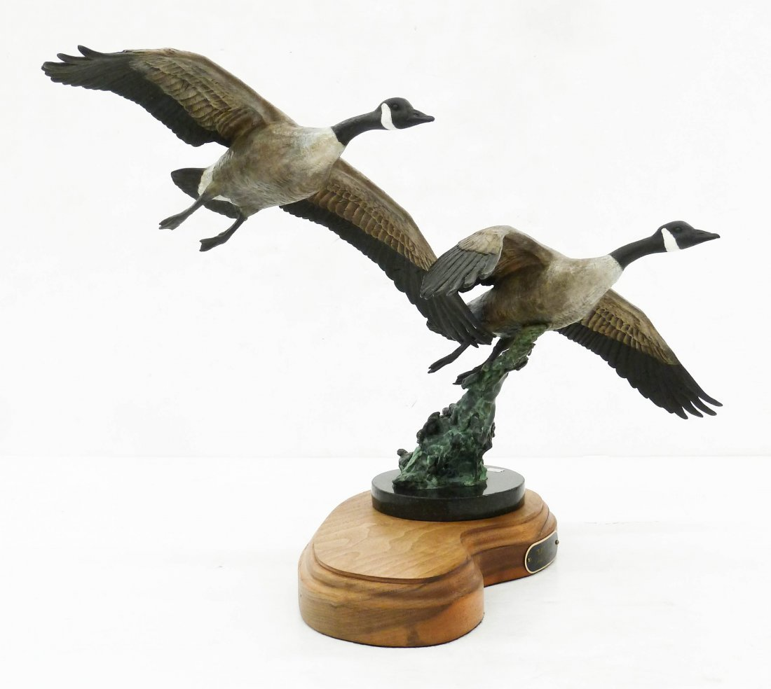 Eric Thorsen (b.1967 Montana) ''Lift Off'' Patinated - 2