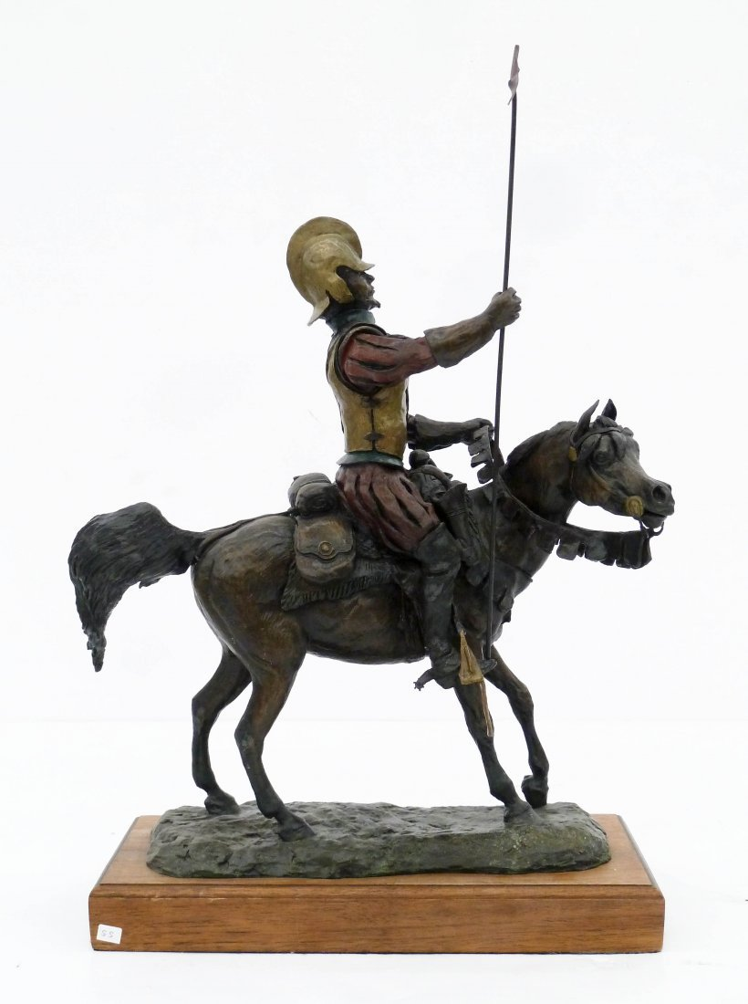 Skip Glomb (1935-1988 Wyoming) Untitled Conquistador - 3
