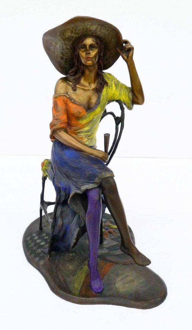 Isaac Maimon (b.1951 Israel) ''Coquette'' 1995 Bronze - 2