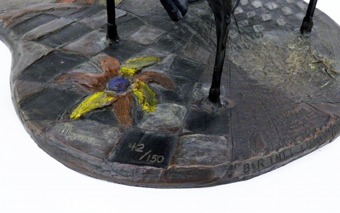 Isaac Maimon (b.1951 Israel) ''Coquette'' 1995 Bronze - 4